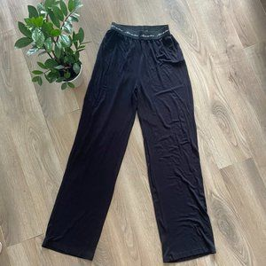 BNWOT MISSGUIDED Black Logo Wide-Leg Lounge Pants